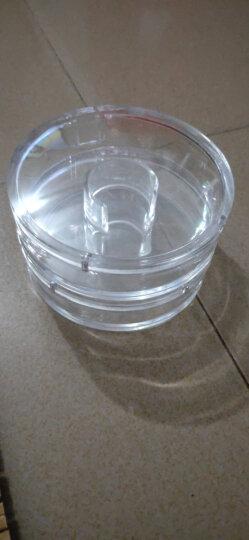 彩荷文玩佛珠礼盒保养盒柜台展示盒子透明盒珠宝亚克力圆形沉香养珠盘 翻盖款大号手镯盒 晒单图