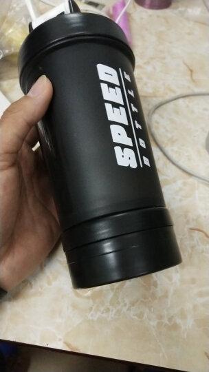 蓝极(Bluepolar)摇摇杯蛋白粉奶昔杯运动水杯健身搅拌杯旋风杯带刻度奶茶杯 升级版黑色 晒单图