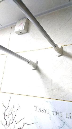 美居客浴帘杆不锈钢大圆头弹簧加强型免打孔可伸缩杆(1.4m-2.6m) 多功能衣柜撑杆窗帘门帘杆阳台晾晒杆 晒单图