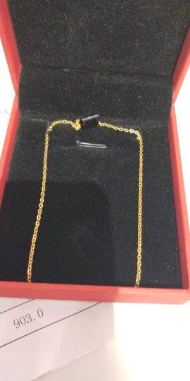 明牌珠宝 黄金项链 足金O字项链O型十字链吊坠配链送礼女AFR0013工费50 足金项链 约42厘米 约2.61克 晒单图