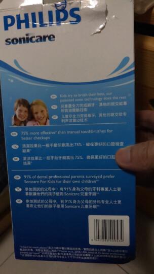 飞利浦(PHILIPS) 电动牙刷 儿童声波震动(自带刷头*2)(标准/迷你刷头随机发货) HX6312/05 晒单图