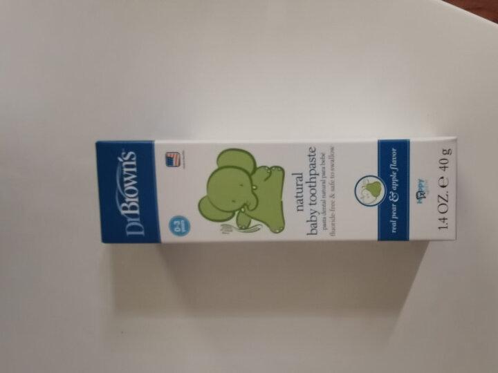 布朗博士(DrBrown's)儿童牙膏 天然果胶牙膏 无氟可吞咽可食牙膏 苹果梨味儿童牙膏 0-3岁(原装进口) 晒单图