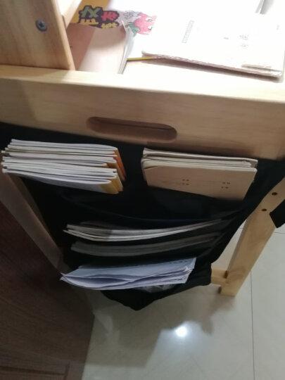 得力(deli)72365 多功能可调课桌挂袋 学生书本收纳袋/挂架/挂书袋 棕 晒单图