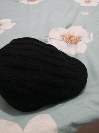 帽子男冬天韩版时尚针织鸭舌帽秋冬贝雷帽画家前进帽 黑色58CM 大小帽围 晒单图
