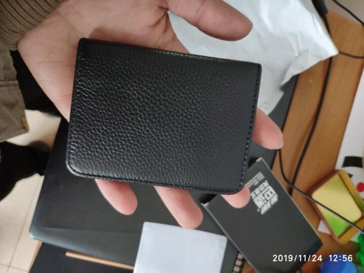 巴适(RDBS)卡包男士超薄真皮卡夹名片夹多卡位银行卡套迷你小卡片包驾驶证套3056 黑色 晒单图