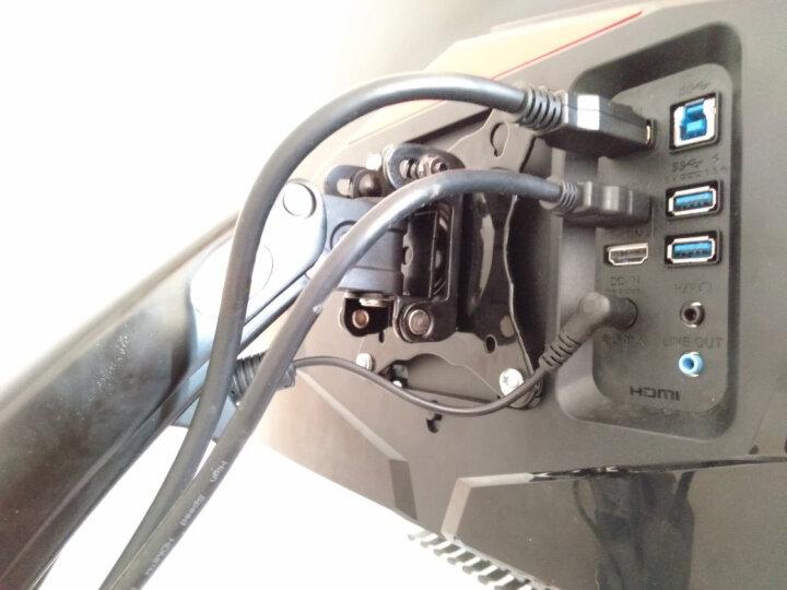 NB F150(17-27英寸)液晶电脑显示器支架多功能旋转显示器支架壁挂自由升降伸缩架三星AOC戴尔等部分通用黑色 晒单图