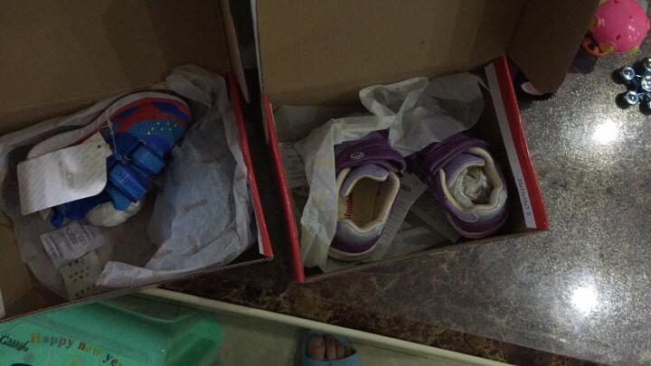 基诺浦春款防水机能鞋男女儿童宝宝鞋轻盈透气学步鞋TXG366 TXG366土黄/咖啡 6码/鞋垫长14cm 晒单图