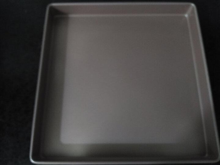 学厨 CHEF MADE 蛋糕模具重型碳钢烤盘11寸正方形28.6*28.6*3.5cm饼干蛋糕卷牛轧糖盘烘焙模具香槟金色WK9076 晒单图