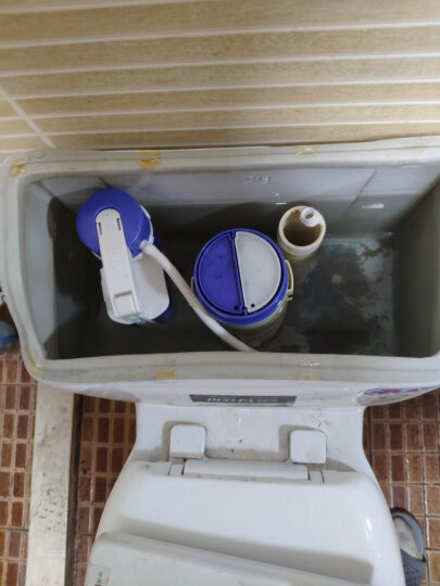蒂安俪 马桶配件 进水阀上水阀上水器通用水箱进水器 蓝白伸缩进水阀配50cm进水管  黄铜螺纹 晒单图