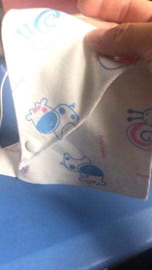 阳光菊(Sunny ju) 阳光菊纯棉双面三角巾口水巾纯棉夏婴儿宝宝围嘴双层按扣吸水巾围兜 小兔汽车图案 晒单图