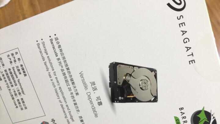 希捷(Seagate)1TB 64MB 7200RPM 台式机机械硬盘 SATA接口 希捷酷鱼BarraCuda系列(ST1000DM010) 晒单图