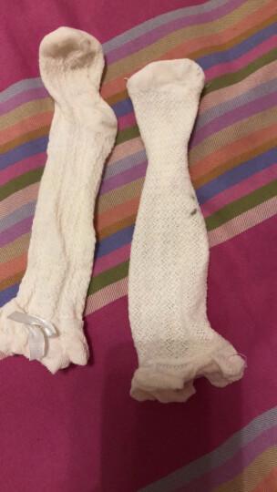 Auro Mesa 婴儿长筒袜夏天宝宝袜子网眼透气婴儿中筒袜全袜蝴蝶结公主袜新生儿防蚊袜 浅粉色 S/0-12个月,袜底11cm 晒单图