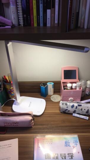 冠雅 LED充电护眼台灯学生学习卧室床头触摸调光办公工作儿童阅读灯 7档调光经典款 金属银(插电款) 晒单图