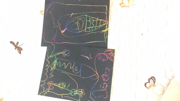 得力(deli)3244 儿童趣味炫彩刮画纸(260*370mm) 10张/袋 晒单图