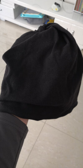 冬季围脖脖套男女户外骑行加绒加厚帽子百搭脖套帽子多功能韩版防风防寒抓绒套头帽潮 【加绒款】黑色 晒单图