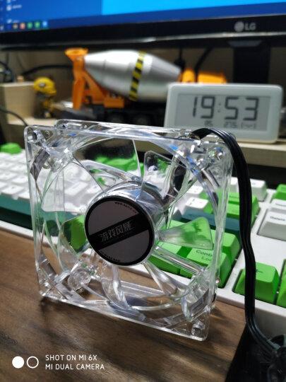 先马(SAMA)游戏风暴 8CM蓝光 机箱风扇(LED蓝光/小3拼+大四拼接口/航空动力学/低噪音/高效散热) 晒单图