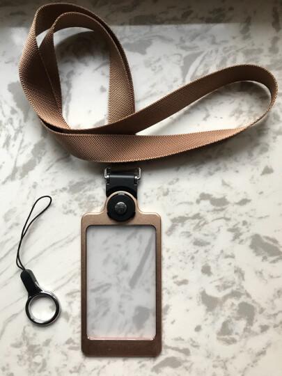 聚物酷 金属工作牌工作证卡套 多功能手机挂绳铝合金挂牌员工牌胸牌证件卡套定制 X01时尚灰 晒单图