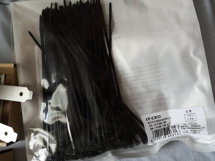 IT-CEO 尼龙扎带 电脑扎线带绳 理线器 绑束线带 扎丝线扣 电线整理带 约200X3.2mm 黑/100根 J03143 晒单图