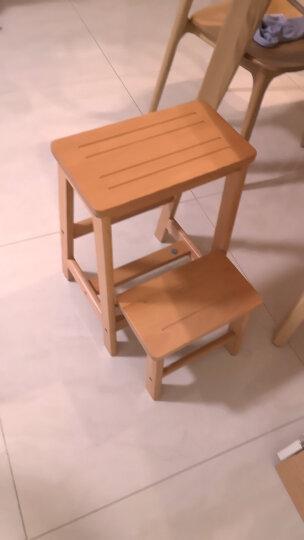英尼斯 实木三层楼梯凳阶梯凳两用折叠梯家用木梯子室内三步多功能梯凳 三层(棕色)榉木 晒单图