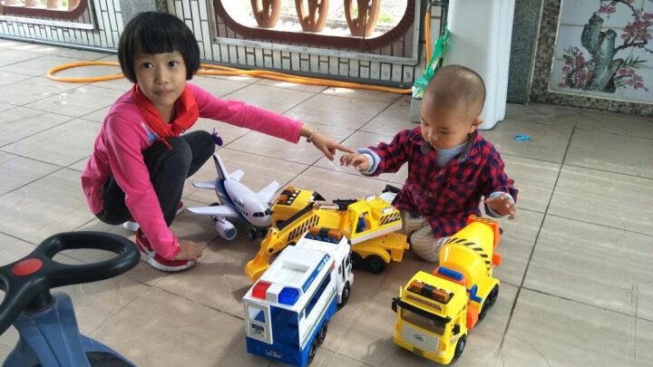 乐飞 Lefei 9882 仿真车惯性工程车儿童玩具 大力搅拌车 带灯光音乐会讲故事 晒单图