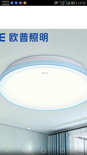欧普照明(OPPLE)卧室儿童房间餐厅led吸顶灯具 现代简约圆形温馨灯饰 多瑙河16瓦 晒单图