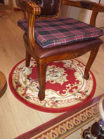 万腾 圆形地毯 欧式客厅卧室餐厅圆餐桌休闲区吊篮书房转椅电脑椅 圆地毯 特大号多尺寸可选 WT1255B圆形 直径0.9米 晒单图