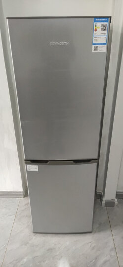 创维(SKYWORTH)160升双门冰箱 两门三温区 0~-7℃软冷冻 金属无痕面板 经济实用型冰箱(炫银)BCD-160 晒单图