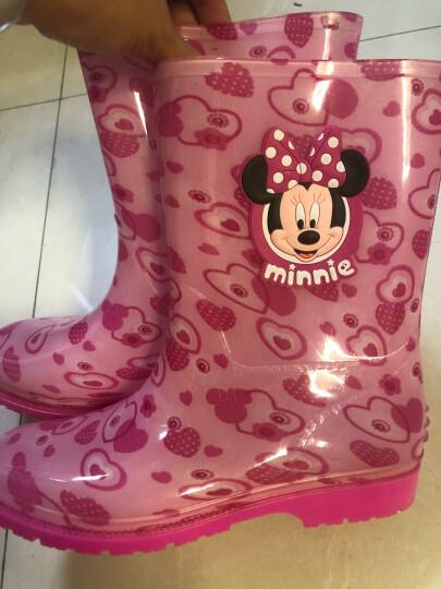迪士尼 Disney 儿童雨鞋 男女童卡通防滑雨靴小孩胶鞋水鞋 15493 米妮粉30码 晒单图