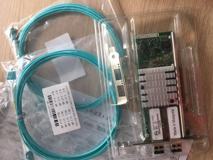 英特尔(Intel) X520万兆网卡82599 原厂10G双口光纤服务器网卡X520-SR2 晒单图