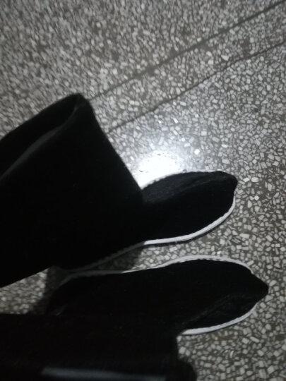 古装汉服靴子男女古代布鞋子大臣书生cos中式长筒戏曲演出靴xx 黑色胶底 42 晒单图