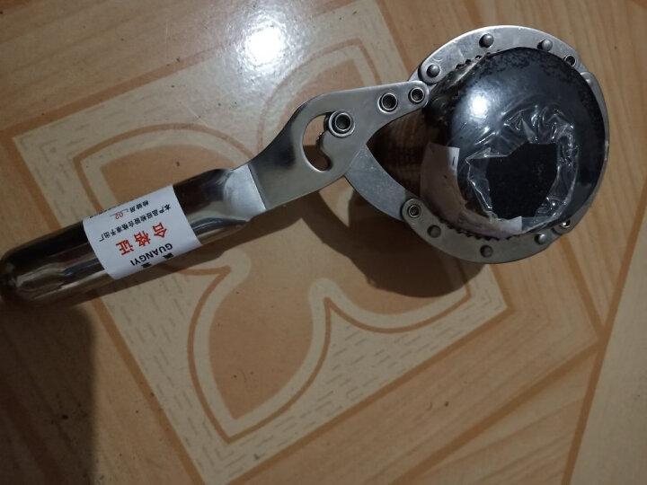 广一 手拷式机油格扳手 机油滤清器扳手 机滤芯拆装扳手 不锈钢扣式扳手小号55-75mm 晒单图