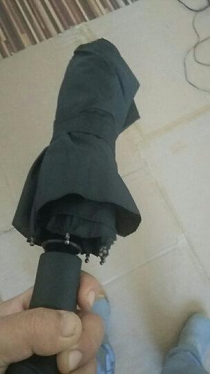 全自动雨伞 男士商务折叠伞大号双人三折成人男女自开自收晴雨太阳伞 10骨大伞105CM黑色 晒单图