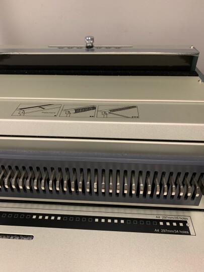 千页百汇(QUPA) S310方孔/SY310圆孔铁圈装订机 方孔/圆孔双线圈装订机 34孔打孔机 S310(方孔) 晒单图