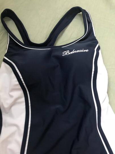 范德安(BALNEAIRE)60566 泳衣女士连体保守游泳衣女式 遮肚显瘦学生专业运动款大码泳装 M 晒单图