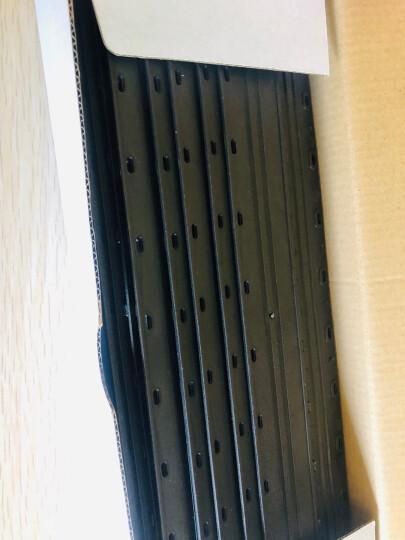 ECHO 爱可装订机10齿优质夹条 适用于梳式胶圈装订夹边条装订机 压条压边条 合同文本标书装订夹条 商务蓝 10mm/50支 晒单图