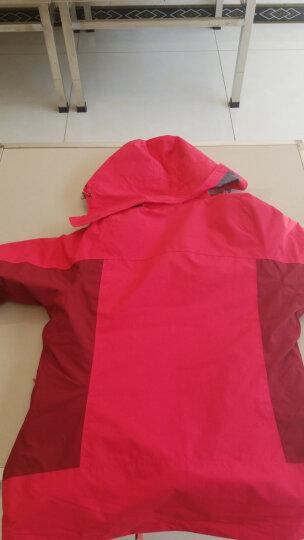 骆驼CAMEL 户外冲锋衣 男女士情侣款防风透气保暖三合一冲锋衣 A4W117009 珊瑚红女款 L 晒单图