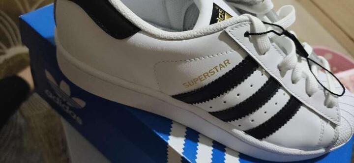 Adidas阿迪达斯男鞋 三叶草情侣金标贝壳头夏季女鞋superstar休闲小白鞋板鞋C77124 G61069(金标) 42.5 晒单图