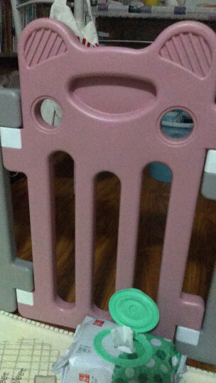 澳乐儿童婴儿游戏海洋球池围栏宝宝学步安全栅栏玩具家用户外室内游乐场小蜜蜂围栏14片+门栏+趣味栏 晒单图