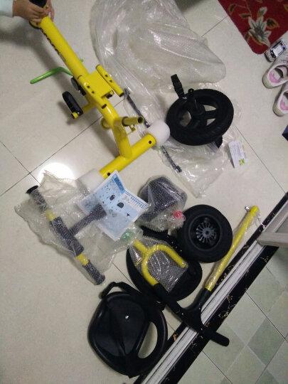 乐卡(Lecoco)儿童三轮车多功能婴幼儿童脚踏车免充气简易自行车多功能手推车 钛金白 晒单图
