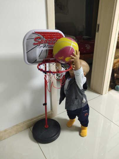 儿童篮球架可升降室内户外大号铁杆铁框篮球架投篮玩具高度可调节宝宝运动健身男孩蓝球玩具 A款1.2米可升降(1球+1打气筒扳手) 1篮球+1打气筒 晒单图