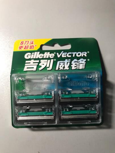 吉列Gillette手动剃须刀刮胡刀刀片吉利威锋旋转双层(8刀头)(此商品不含刀架) 晒单图