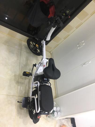 新日(Sunra) 电动自行车新国标折叠电动车锂电池滑板车成人男士女士迷你小型电瓶车代驾代步单车 玫瑰红代驾版 助力续航100-130公里 晒单图