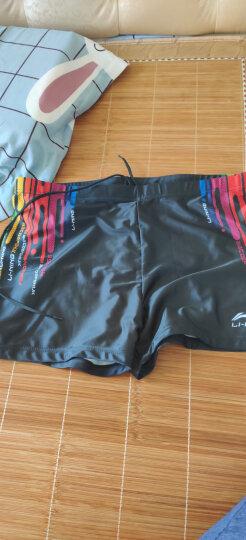 李宁 LI-NING 泳裤 弹力舒适平角泳装 速干不贴身男士游泳裤 抗 氯藏青LSSL125 XL 晒单图
