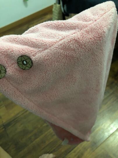 三利 超柔强吸水干发帽 25x67cm 便携式擦头发包头速干毛巾 珊瑚粉 晒单图