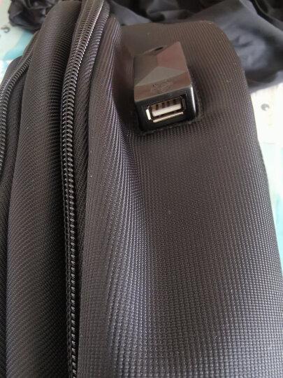七匹狼(SEPTWOLVES)双肩包男休闲背包新品大学生书包笔记本商务电脑包旅行包 经典款两层仓黑色 晒单图