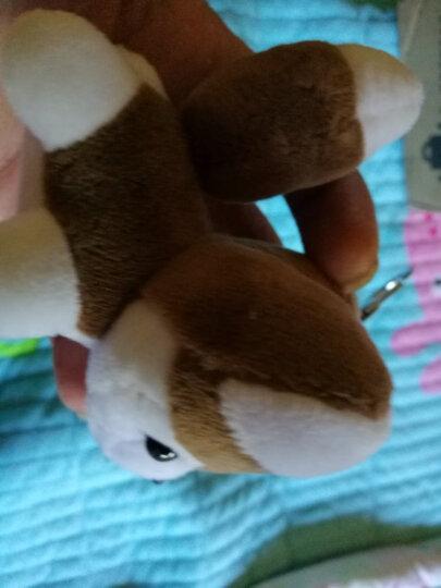 可爱创意毛绒哈士奇钥匙扣小狗玩偶挂件女包包挂饰汽车挂链礼物男 深棕色 哈士奇 晒单图
