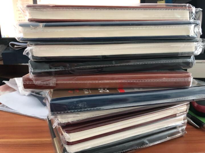 【买4送1】申士 笔记本子文具 商务厚记事本皮面本子创意日记本本册胶装本 买四送一 50K 晒单图