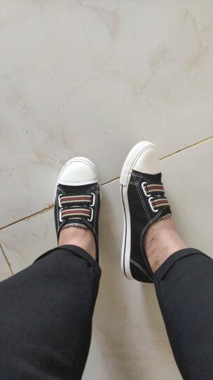 飞耀 帆布鞋女平底小白鞋 百搭时尚休闲鞋 浅口一脚蹬懒人布鞋 667白色 38 晒单图