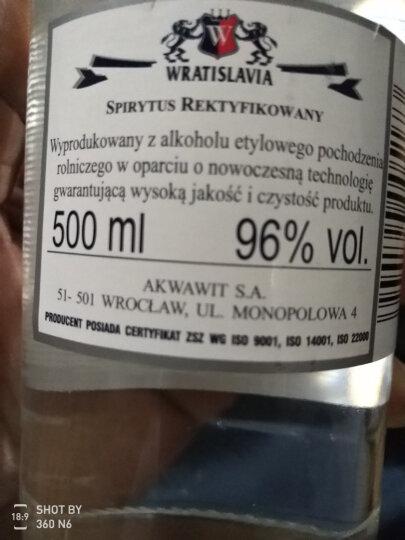 【侠风中国】生命之水伏特加96度高度烈酒 波兰原瓶进口伏特加洋酒 500ml*6瓶整箱装 晒单图