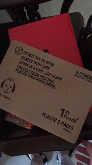 嘉宝(Gerber)美国原装进口 果泥1段婴儿辅食宝宝零食 蔬菜泥水果泥56g*2 4个月+ 西梅泥5组 晒单图